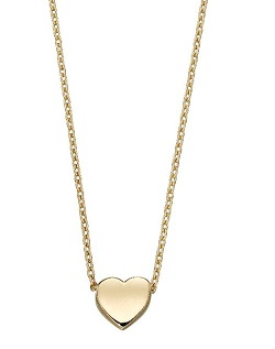 69506 - 9ct Yellow Gold Heart Necklace