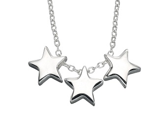 69463 - Silver Triple Star Necklace