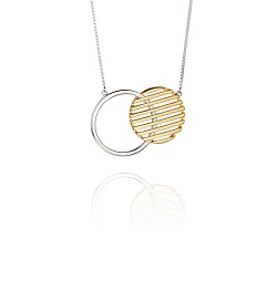 69464 - Yellow Gold plated Silver Circle necklace