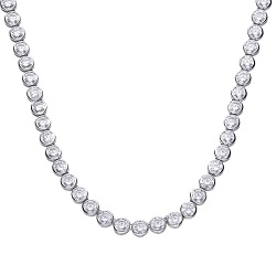 69603 - Silver Tennis choker set with diamonfire CZ
