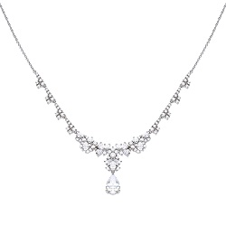 69604 - Silver necklace with white Diamonfire zirconia