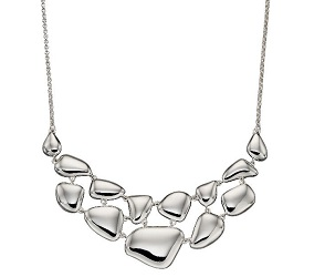 69471 - Silver organic pebble necklace