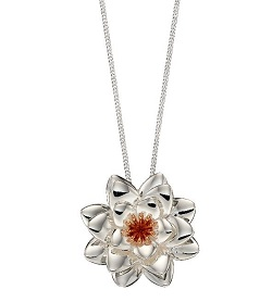 69515 - Rose Gold plated Silver Chrysanthemum Pendant & chain