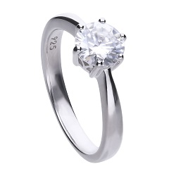 69492 - 1.5ct DiamondFire CZ Solitaire Ring in Silver