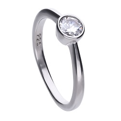 69493 - 0.5ct DiamondFire CZ Solitaire Ring in Silver
