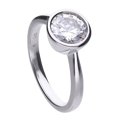 69494 - 2.0ct DiamondFire CZ Solitaire Ring in Silver